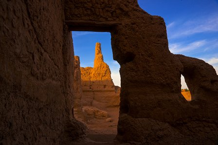 the ruins of the ancient city of jiaohe