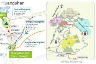 guide map for huangshan