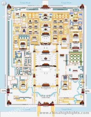 故宮の地図