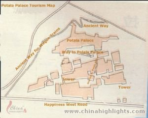 Potala Palace Tourism Map